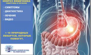 Невроз кишечника симптомы и лечение +10 ТОП лекарств